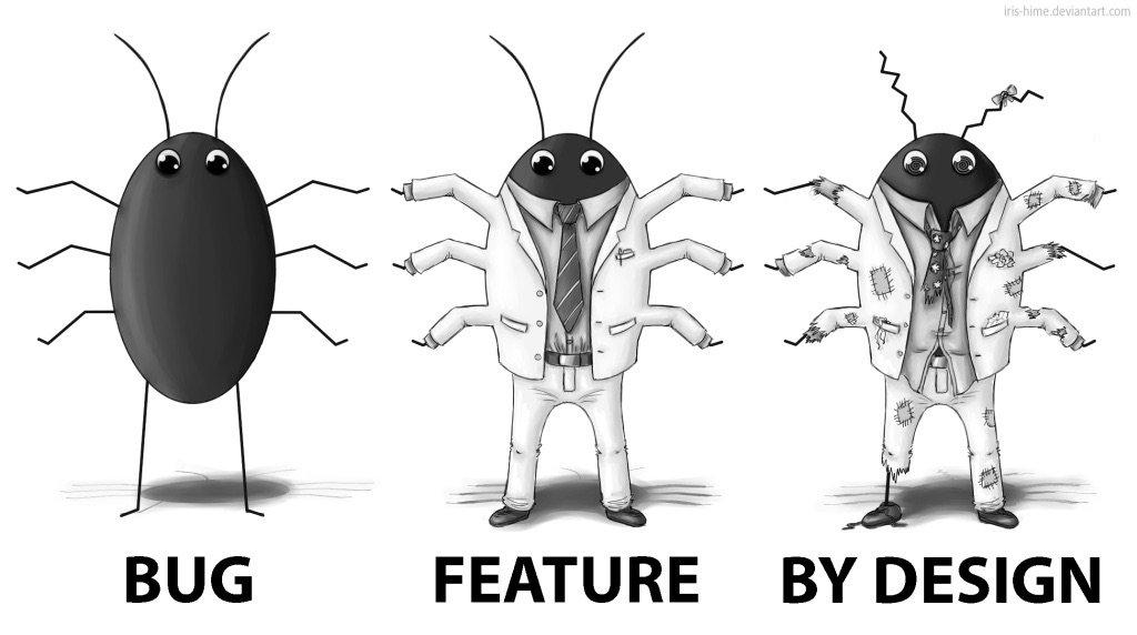 接到用户反馈之后,经过讨论,Bug Fix 可以变成 New Feature,这时候必须祭出这么一张神图