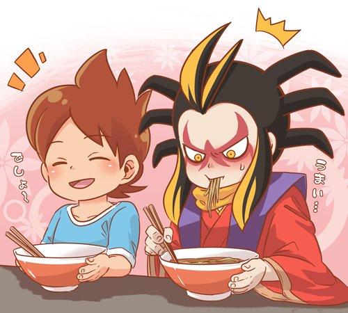 正太郎 On Twitter 土蜘蛛大将とケータくん 何かラーメンが食べ
