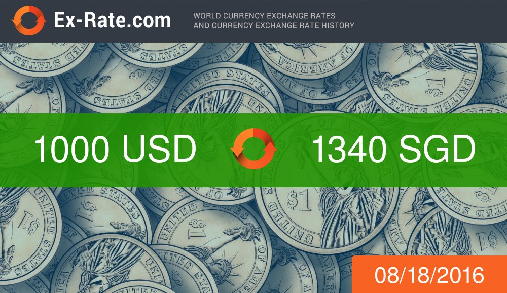 Usd To Singapore Exrate 1 34 Https