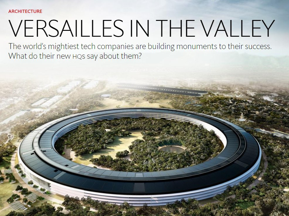 New #Apple HQ: are #tech giants scoring an own goal by building self-enclosed universes? https://t.co/FZTQRtPtim