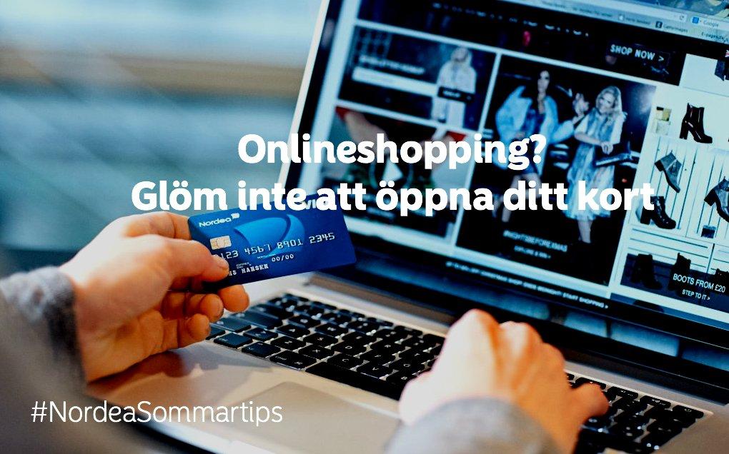 nordea öppna kort för internetköp
