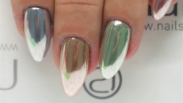 Soft Mirror Powder Color Chrome Step By Keywords Nails Gels