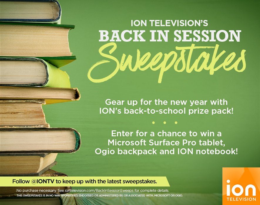 Gear up for the school year w/ @iontv's #BackInSessionSweeps! Click to enter! #entry https://t.co/zmlY9Oq5iy https://t.co/mc6aph9ovC