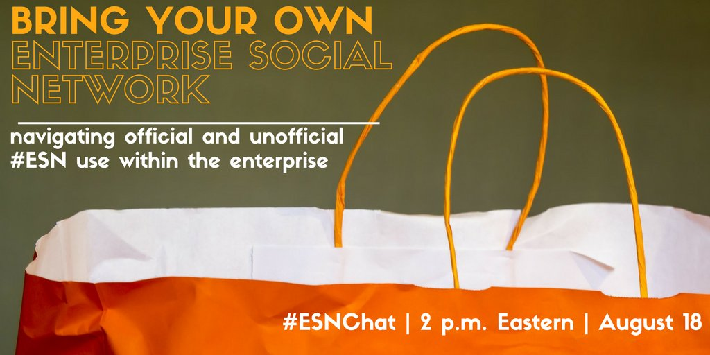Today on #ESNchat we're discussing Bring Your Own... #ESN? https://t.co/PKtzPGLeHt