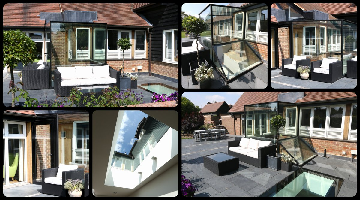 Structural glass box with walk on glass floor. Extending the property to provide a light filled walk way. #glazing https://t.co/Gnwr9PVwHQ