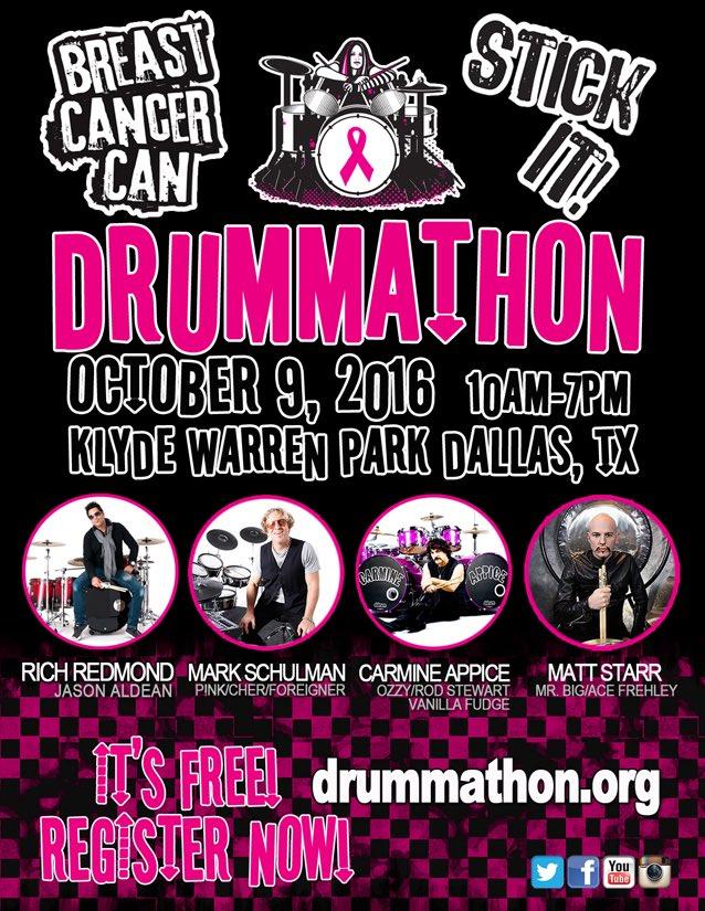 Drummathon 2016 - October 09 10am - 7pm (DRUM for CURES)