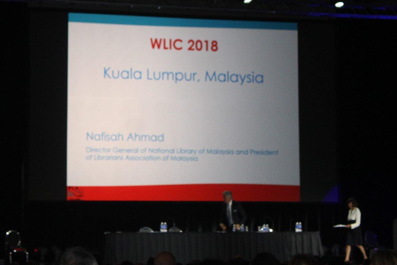 La #Malaisie accueillera le #WLIC2018 de l'@IFLA après la #Pologne pour le @WLIC2017 ! #WLIC2016 #BibSen #kebetu https://t.co/2dNmLYp24h