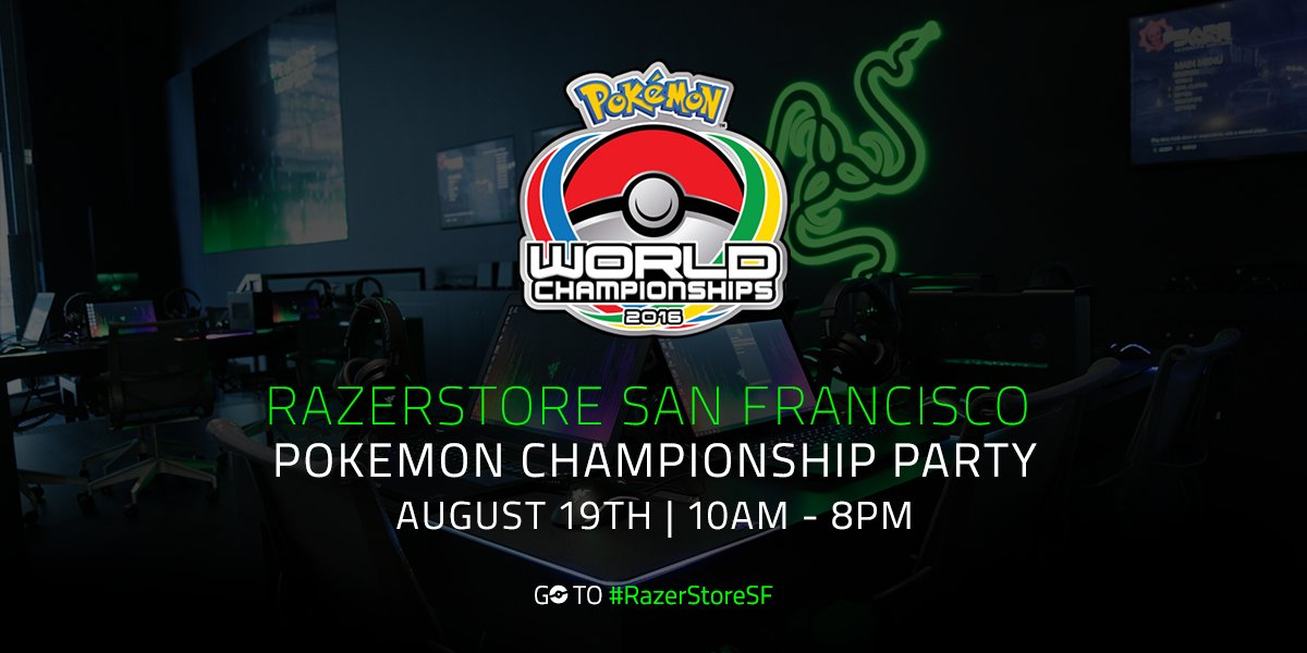 Join us all day tomorrow for our Pokemon World Championship Party! Watch the event, hang out, and catch 'em all! https://t.co/JFzPFb70FG
