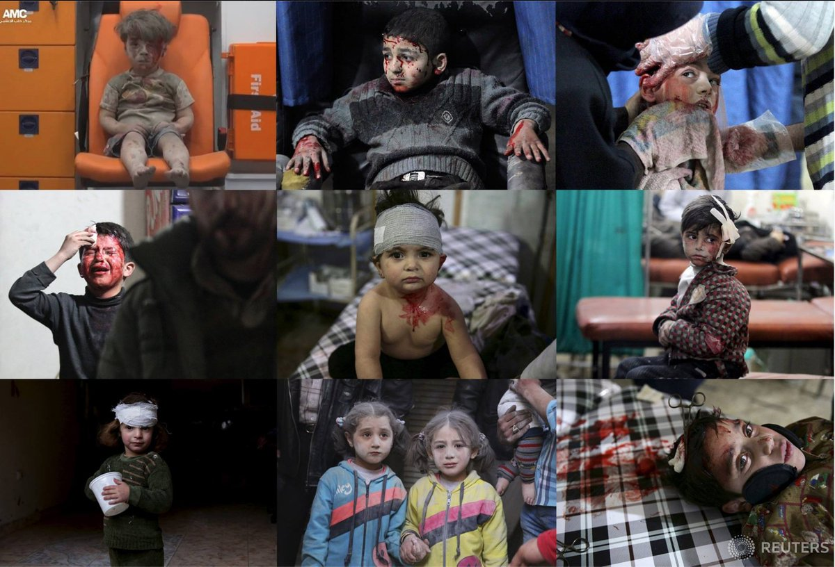 """""""Il senso morale di una società si misura su ciò che fa per i suoi bambini."""" Dietrich Bonhoeffer #Siria"""