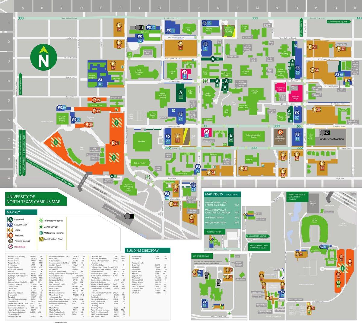unt campus map 2016 Unt College Of Music On Twitter Performance Parking Updates