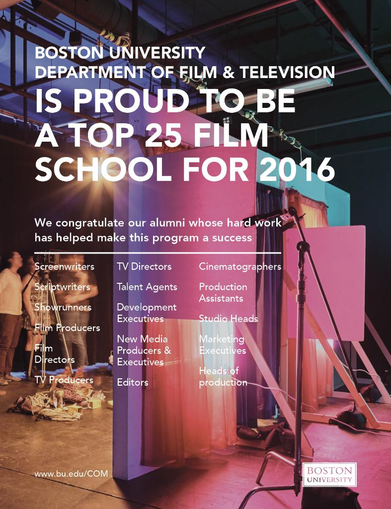 .@THR names Boston University the 13th Best Film School in the country. #ProudtoBU #BUCOM https://t.co/sL5dcl4ikv https://t.co/HDyGRiOHje