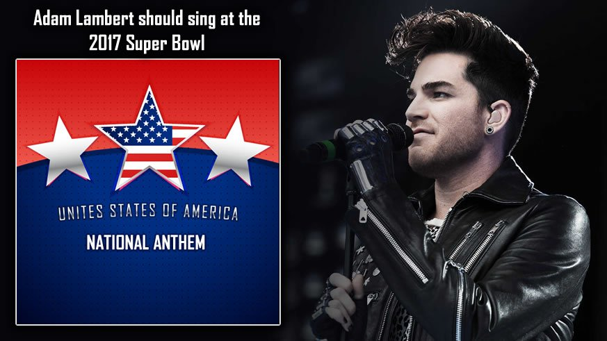 RT #Glamberts  To @adamlambert sings National Anthem @SuperBowl 2017 V...
