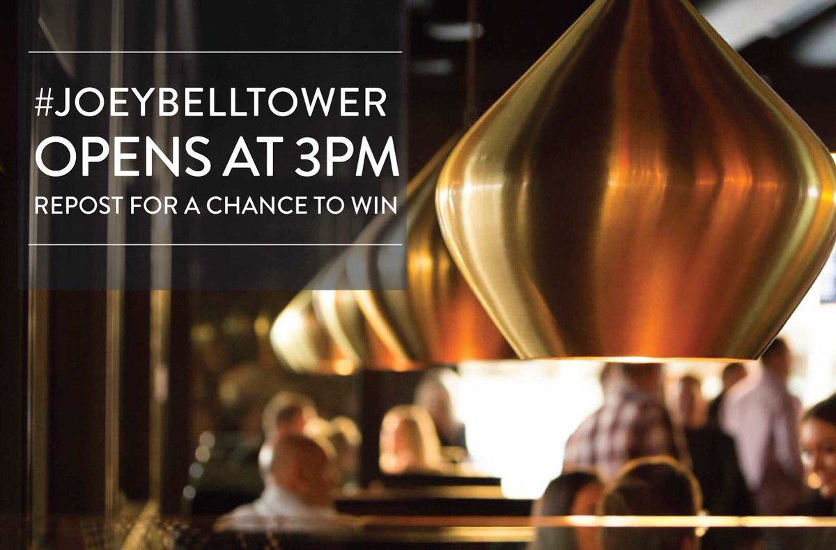 Win a $100 gift card to try #JOEYBellTower! Repost for a chance to win. Winner will be selected at random at 7PM. https://t.co/J0RkemnTRX