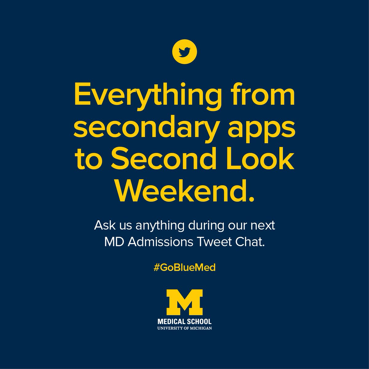 UMich Med Admissions on Twitter: