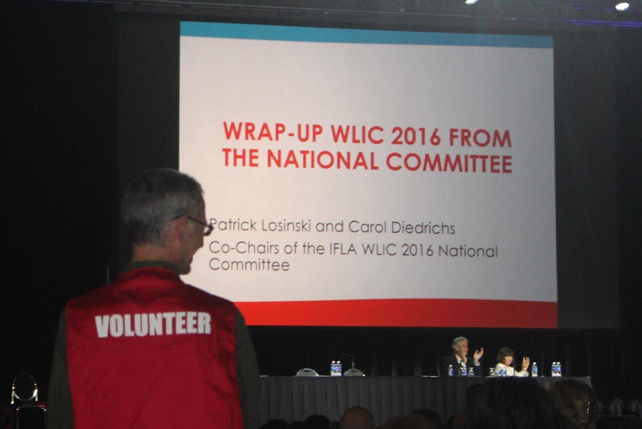 Remerciements aux 367 volontaires du @WLIC2016 qui viennent des #EtatsUnis, du #Canada, du #Nigeria... #WLIC2016 https://t.co/X522302JsY
