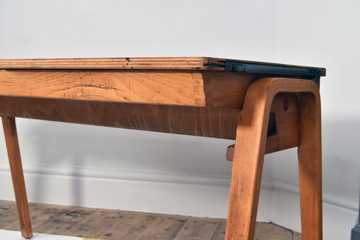 Rvibe On Twitter Retro Vintage Double School Desk Sloping Top Bentwood Legs Https T Co Abcfmimmil Or Pm Us