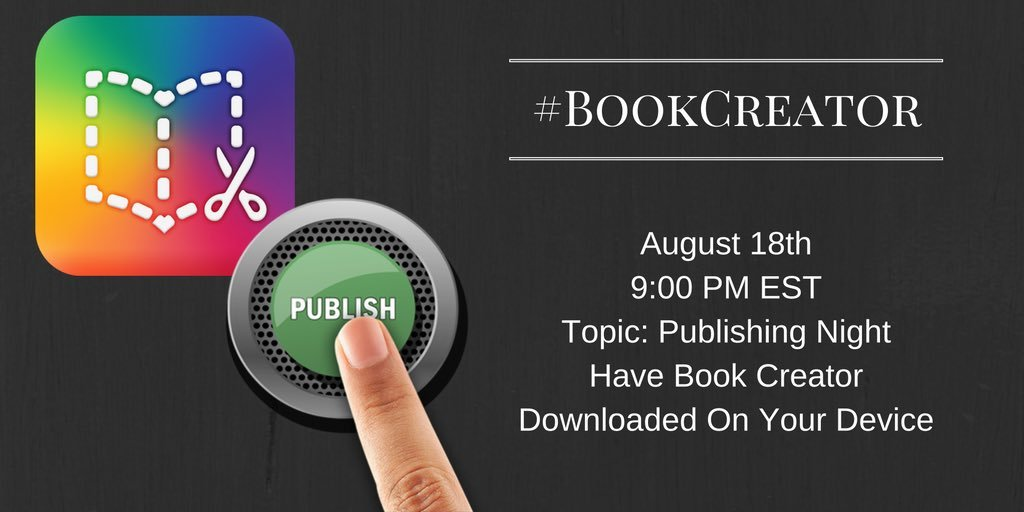 Thumbnail for #BookCreator 8/18/2016