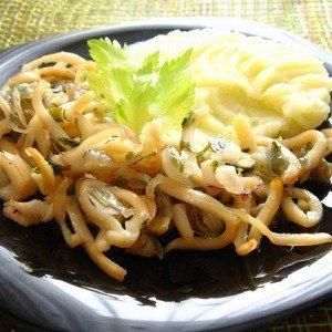 Рецепт кальмары с рисом