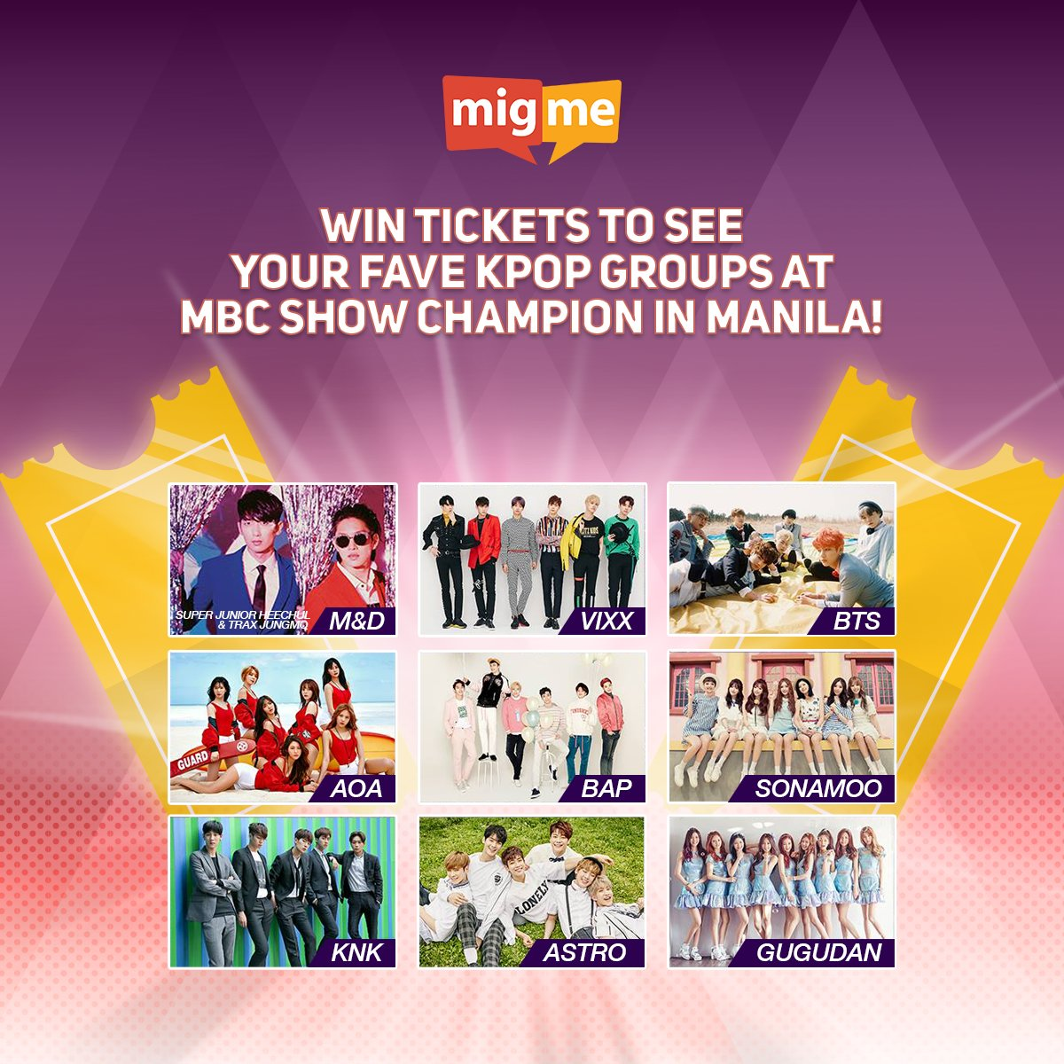 CALLING KPOP FANS! Now's your chance to win tickets to #ShowChampioninMNL! Full details here:https://t.co/zHAis8x8Sd https://t.co/DVhIAt8Dpp