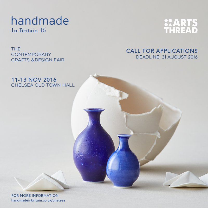 Apply by Aug 31 New Gradauate Showcase @handmadebritain taking place Nov 11-13 at Chelsea https://t.co/6YfBRpfWpn https://t.co/oFXQpE2FFU