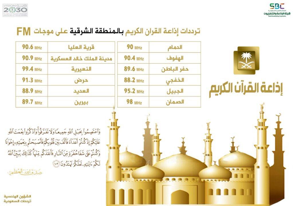 إذاعة القرآن الكريم On Twitter يمكنكم معرفة تردد