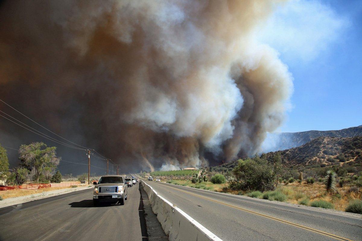 "CAL FIRE on Twitter: ""#BlueCutFire [update] N of San ..."