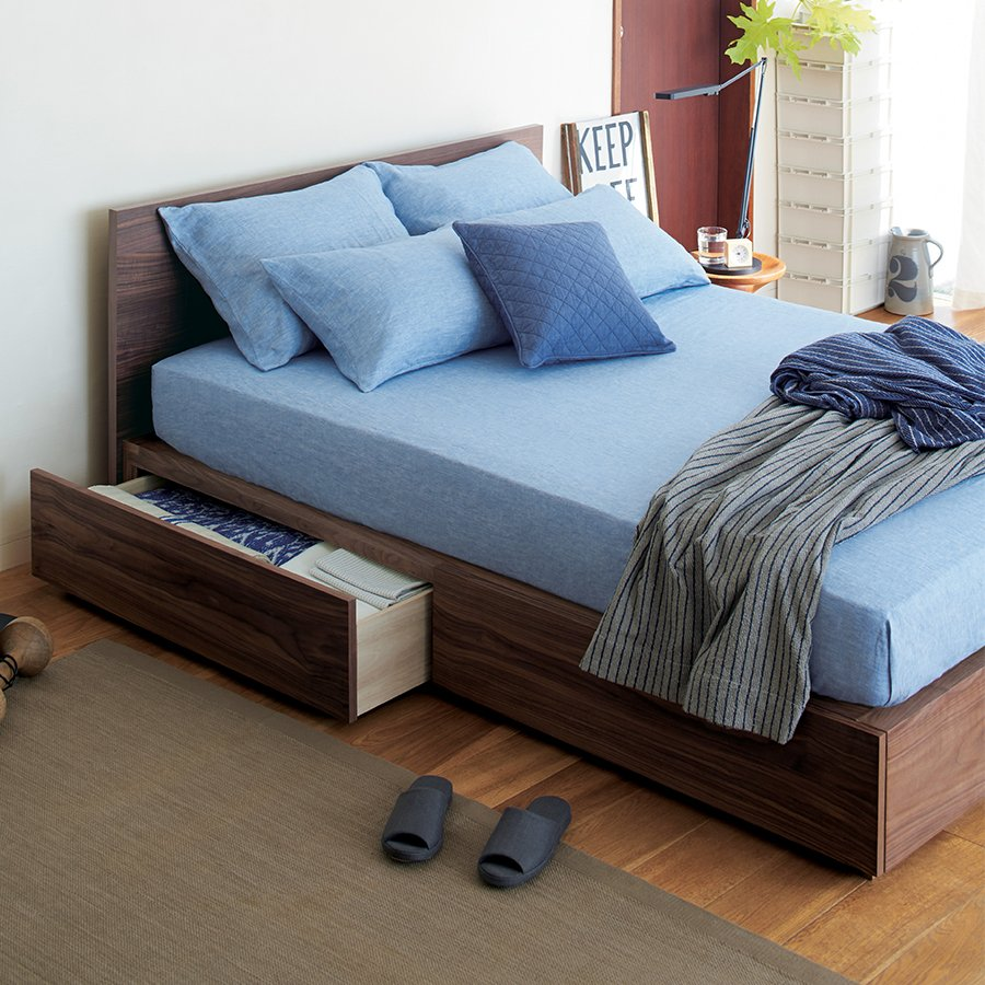 muji usa on twitter walnut storage bed is now available for purchase headboard not included httpstcoelm1ipm6u9 muji mujiusa - Muji Bed Frame