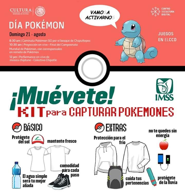 Los consejos del IMSS para la caminata Pokémon GO son muy buenos: https://t.co/2vlHnLFzkC