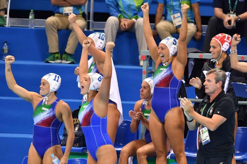 L'Italia della Pallanuoto femminile è medaglia d'argento alle Olimpiadi di Rio 2016