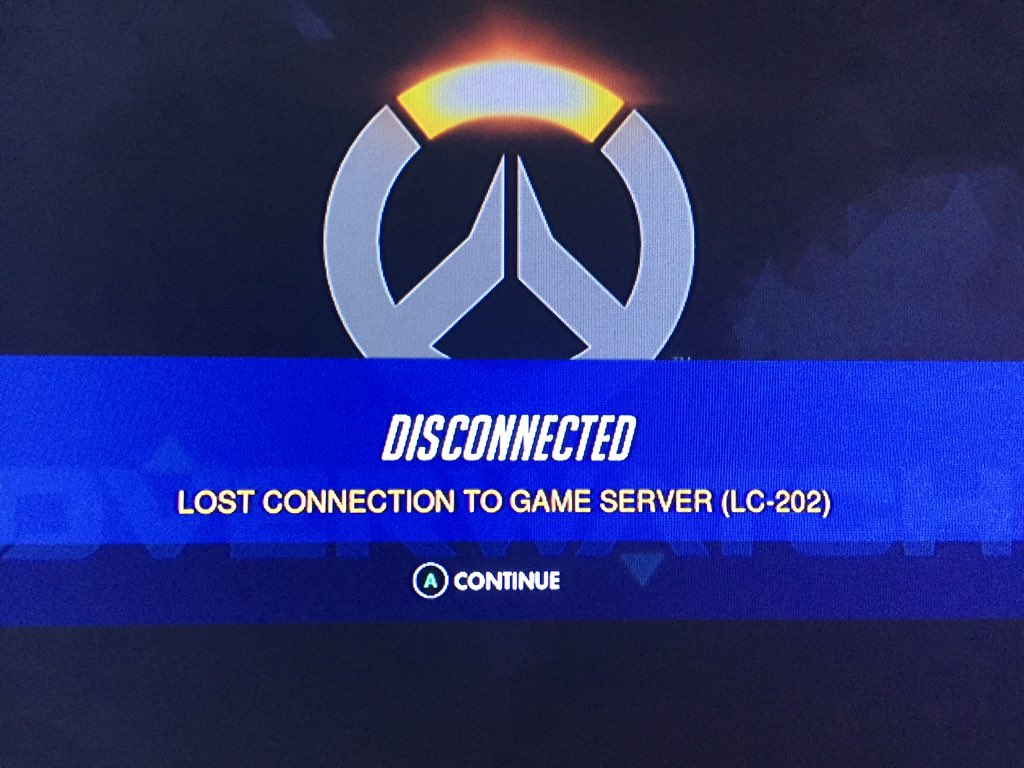 overwatch lost connection to game server login