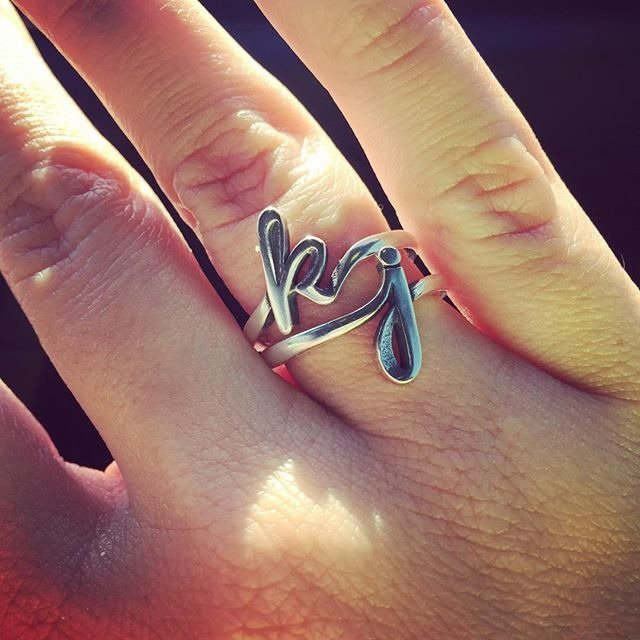 james avery jewelry on twitter   u0026quot the script initial ring is beautiful as a single initial or