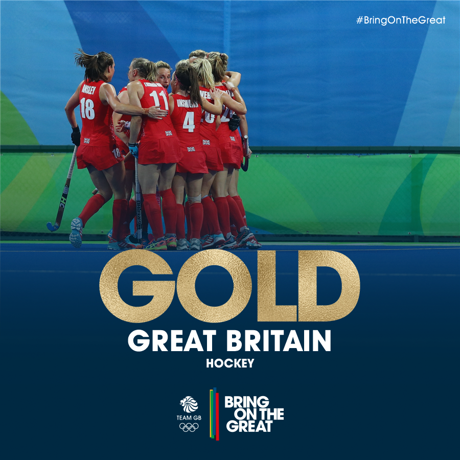 WE'VE DONE IT!!!!! You ladies are #HistoryMakers! #GOLD  #BringOnTheGreat #Rio2016