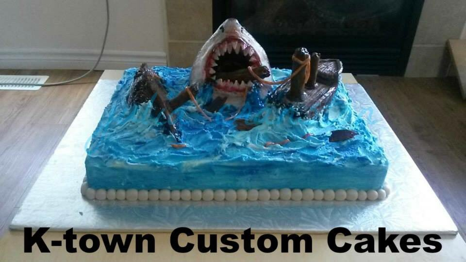 Julia Cranston On Twitter Customcakeslady Cakes Shark Jaws