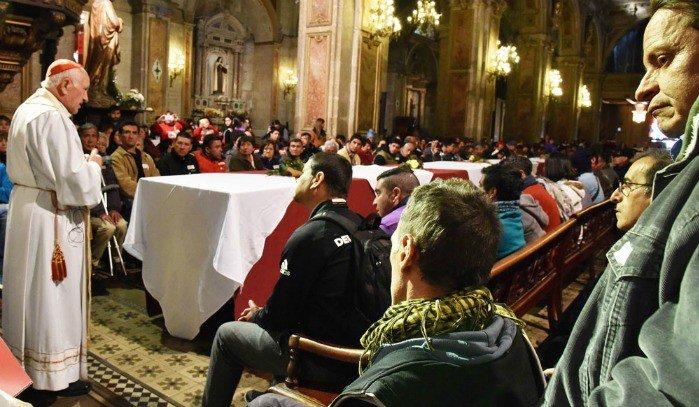 catedral metropolitana se convirtió en comedor para 250 personas