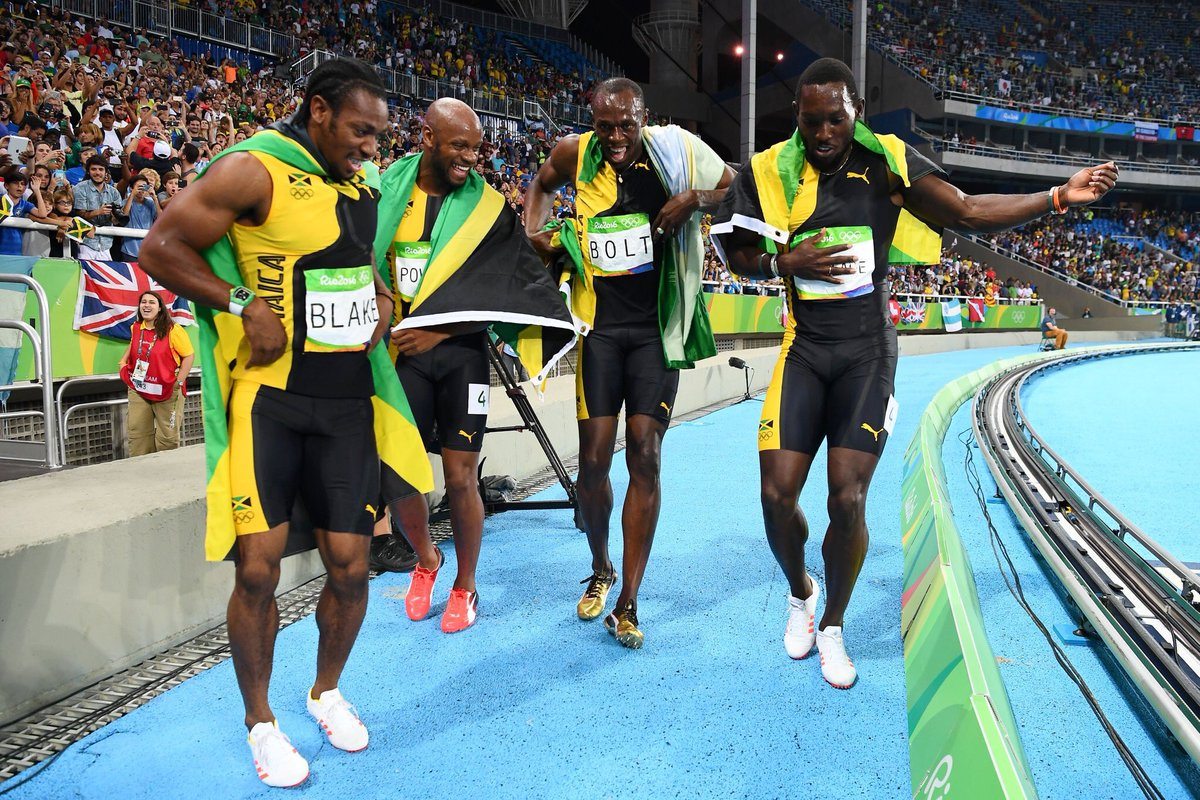 Congrats #Jamaica winning the gold @ the #Olympics men's  #4x100mRelay https://t.co/GhY9oA4J49