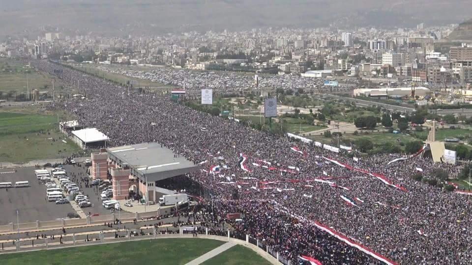 ملايين اليمنيين يهتفون ضد العدوان السعودي على أراضيهم CqT3utUWgAAdNUU