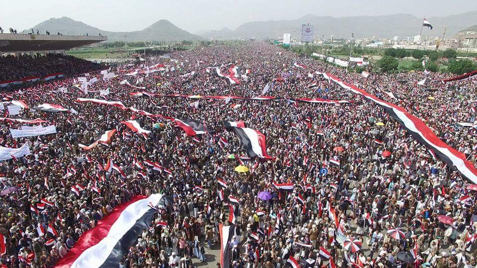 ملايين اليمنيين يهتفون ضد العدوان السعودي على أراضيهم CqT4LC7W8AACOGa
