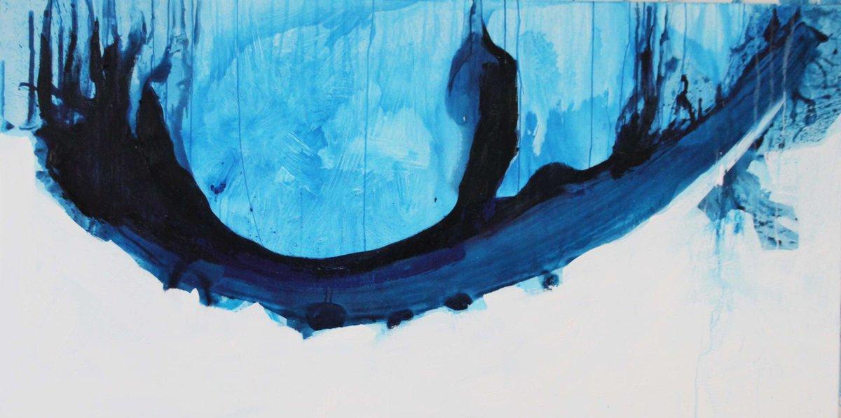 """Tide Wave"", 2014. Private collection - Switzerland. Pigments, Acrylic, Oils on Belgian linen. 100cm x 120cm https://t.co/6HoSxsgBzh"