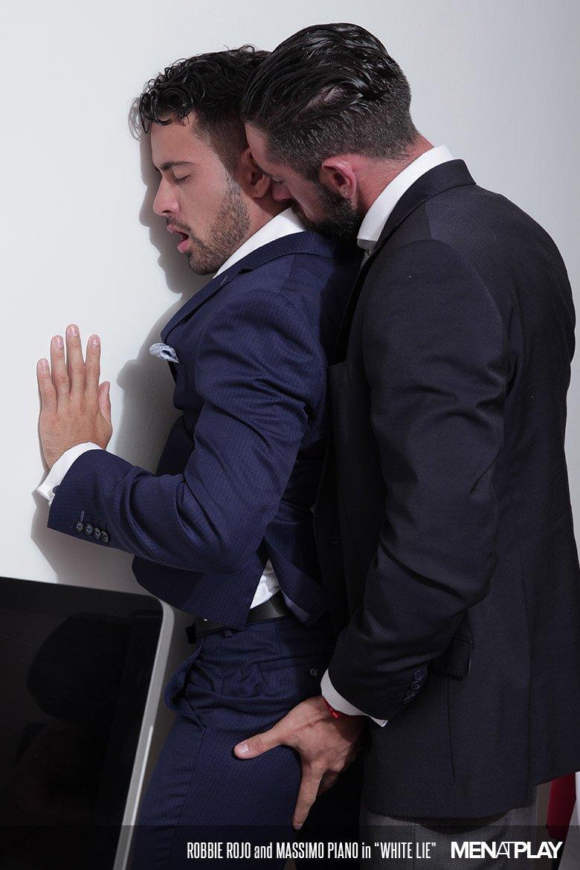 gay working men in suits