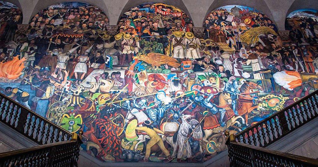 Epopeya del pueblo mexicano de diego rivera recupera su for Diego rivera la conquista mural