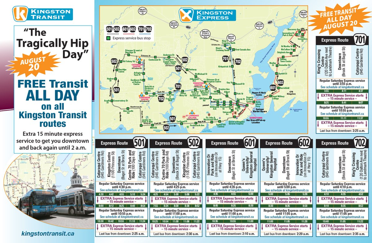 Kingston Transit Map City of Kingston on Twitter: