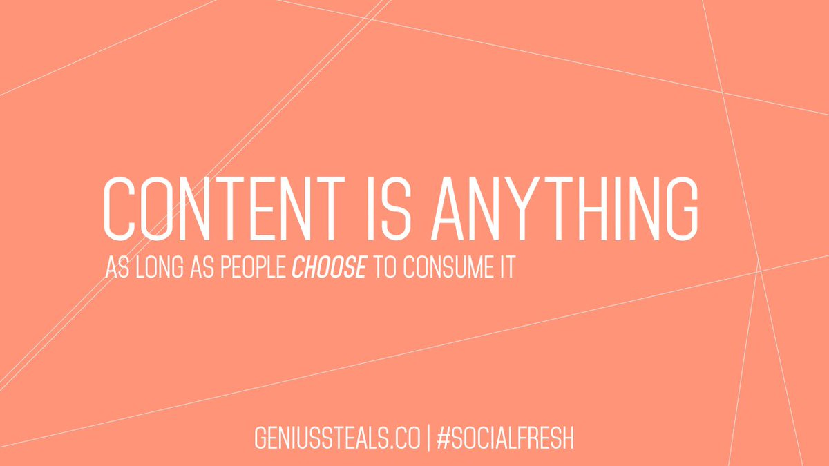 WTF is content, anyway? How do you define it? #SocialFresh https://t.co/ngjrrqqINu