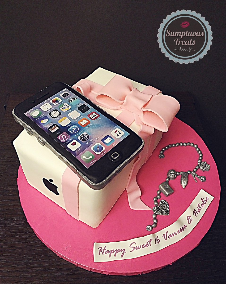 Sumptuous Treats on Twitter Sweet 16 iPhone Cake CustomMadeTo