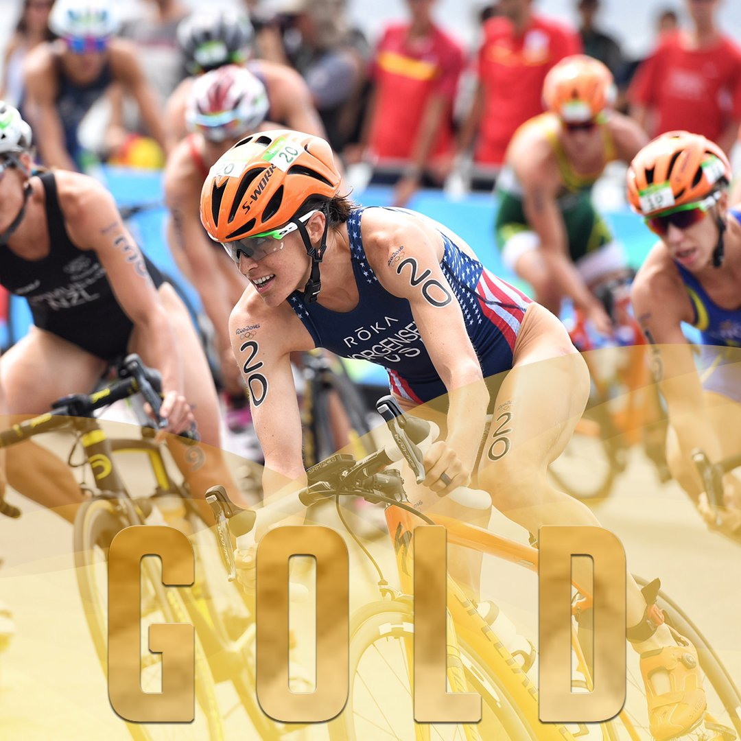 It's a historic day for #USA! @gwenjorgensen WINS first #triathlon #Gold!  #gwensanity #Rio2016 (@N2PHOTOservices) https://t.co/YxhQZnwrBp