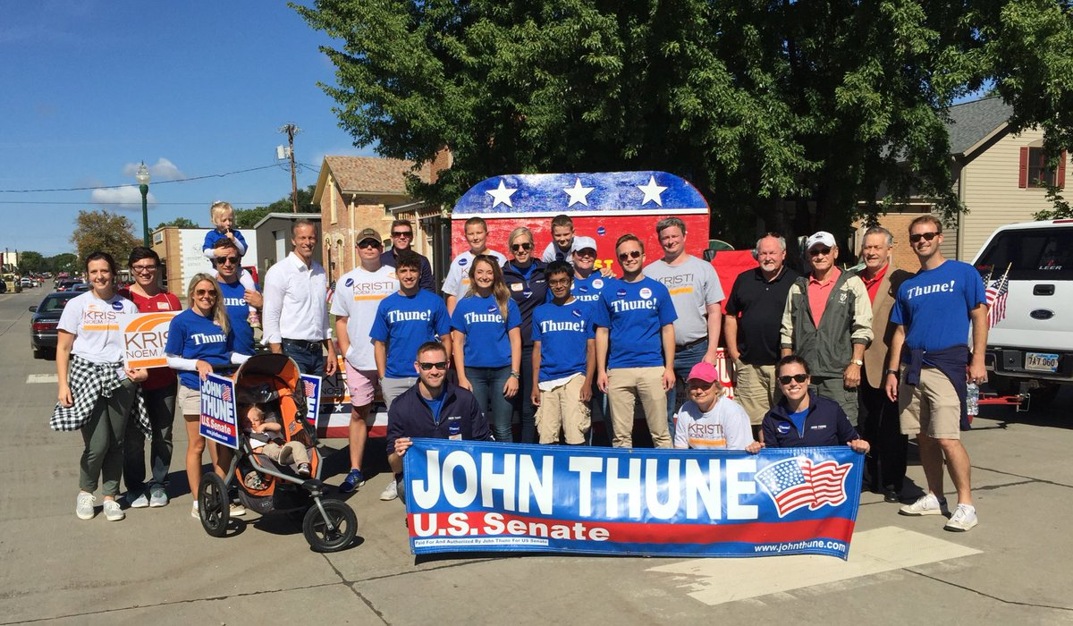 What a great day for a parade here at Yankton's Riverboat Days!