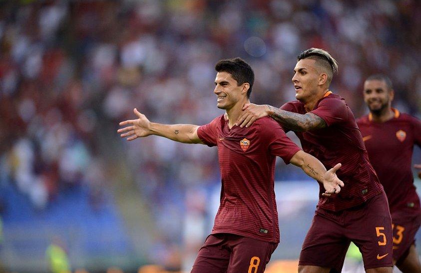 ROMA-UDINESE Risultato 4-0 VIDEO: doppietta Perotti su calcio di rigore, poi Dzeko e Salah