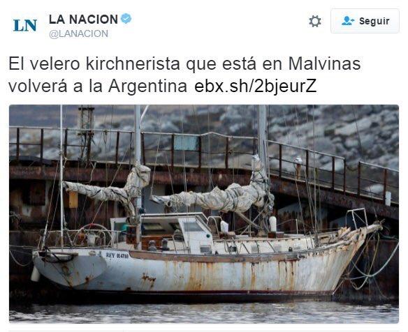Sres de @LANACION : Las Malvinas SON Argentina!! Para todos los que vivimos acá menos Uds. https://t.co/ApDlGodUt3