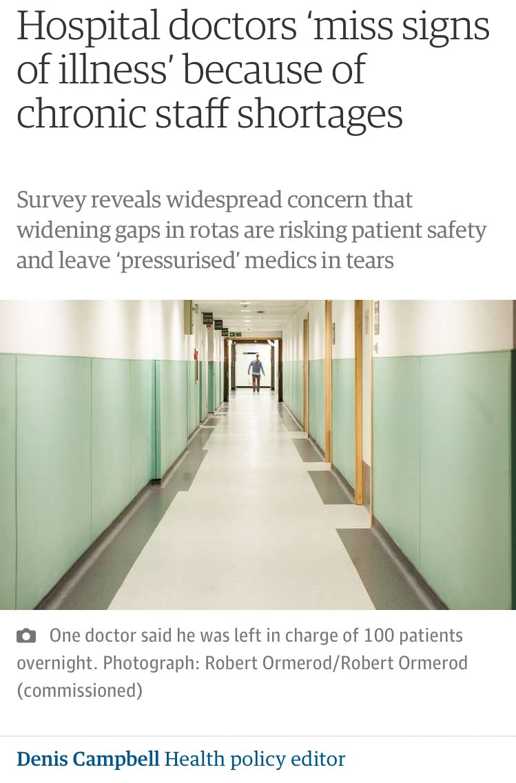 """""""Minister, there are too few doctors"""" Hunt: """"I know! Let's drive more away"""" """"But it'll break the NHS"""" *Hunt smiles* https://t.co/2Sjuyj1IzZ"""