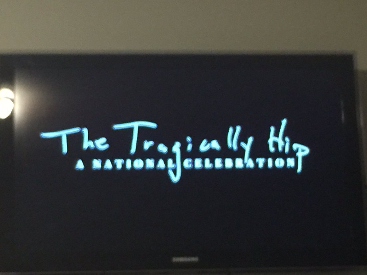 Thank-you @CBC for not only giving us the last Hip show, but for doing it without commercials. #TheHip https://t.co/PXMZuJzL07