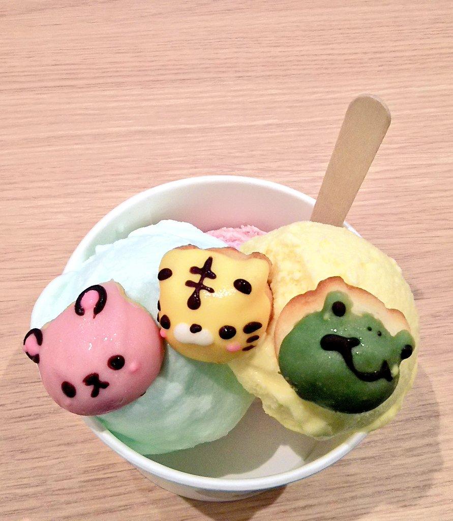 [食品]上野駅構内のシレトコドーナツのジェラートとっても可愛いです。[]